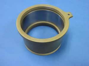 4130 Steel Bearing Housing - Internal & External Thread w/ CAD Plate