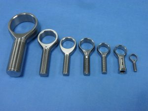 Various Rod Ends - Internal/External Threads w/ Keyways, crossholes