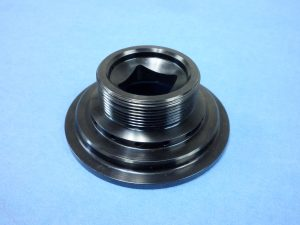 4130 Steel Nut - External Thread - Black Oxide